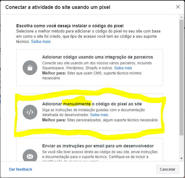 Anúncios do Facebook que instalam pixels