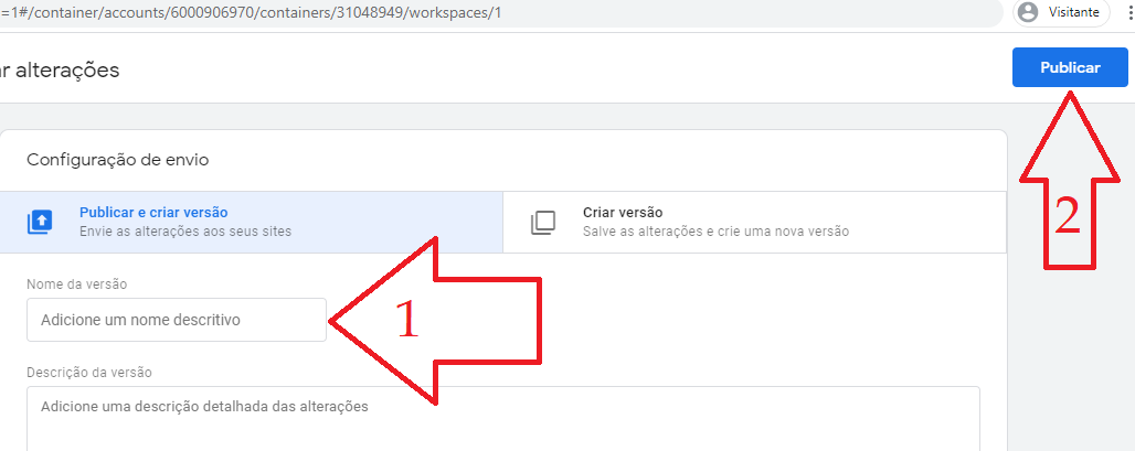 instalar o código de pixel do facebook no gerenciador de tags