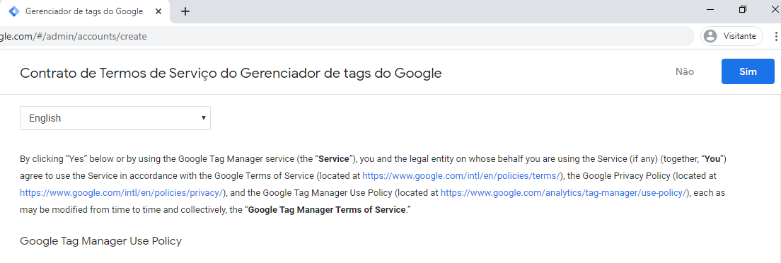 Gerenciador de tags do Google 3